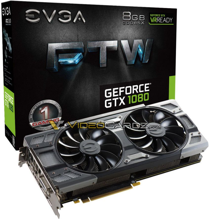 We already saw the EVGA GTX 1080 SuperClocked with gorgeous new ACX 3.0 cooler, now we have the first pictures of top-end EVGA GTX 1080 FTW (For The Win).