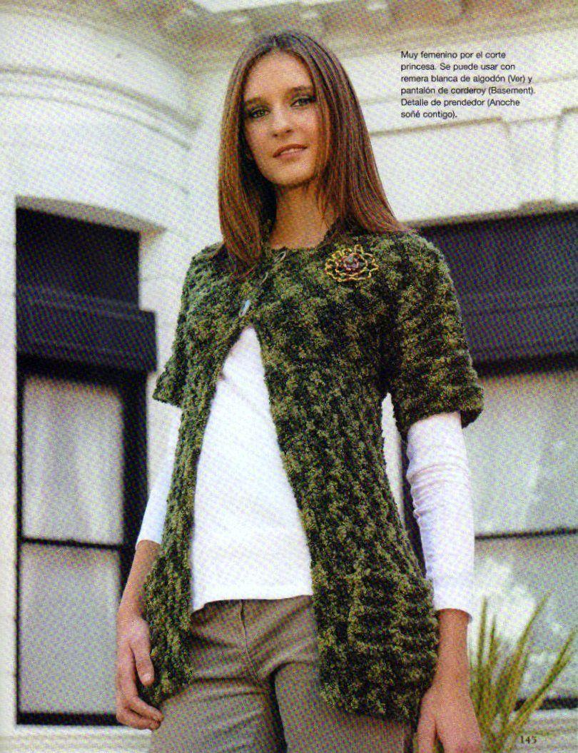 Pasatiempos entre hilos y puntadas: Tapados y pulovers paso a paso