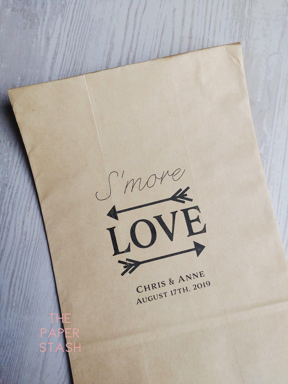S'more Love, Paper Bag Favours, S'mores, Custom, Wedding Favours, Bridal Shower, Wedding Favors