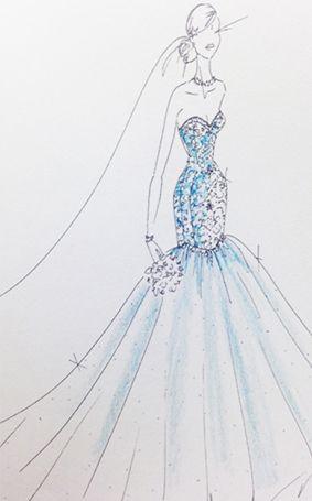Ariel Wedding Dress Sketch 2015 Disney S Fairy Tale Weddings By Alfred Angelo Wedding Wedding Dress Sketches Fairy Tale Wedding Fairytale Wedding Inspiration