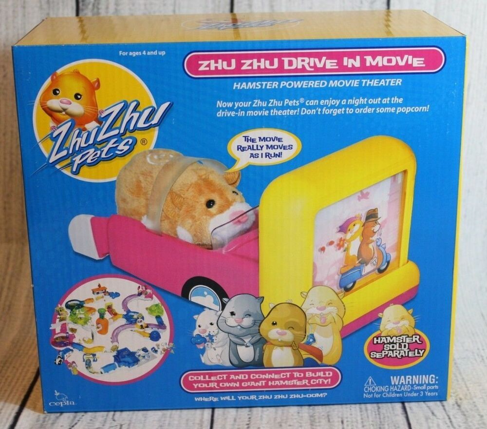 Zhu Zhu Pets Zhu Zhu Drive In Movie Hamster Kids Toy Add On Set