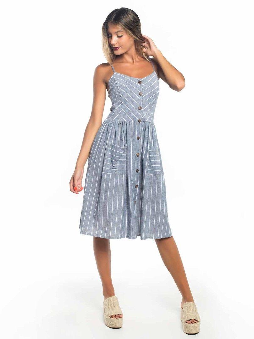 6ed6675e08 vestido botões frente com bolsos   Vestidos   Comprar roupas online ...