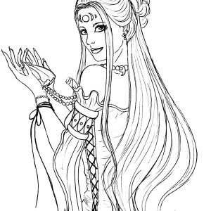 the goddess of love aphrodite coloring page kids play color