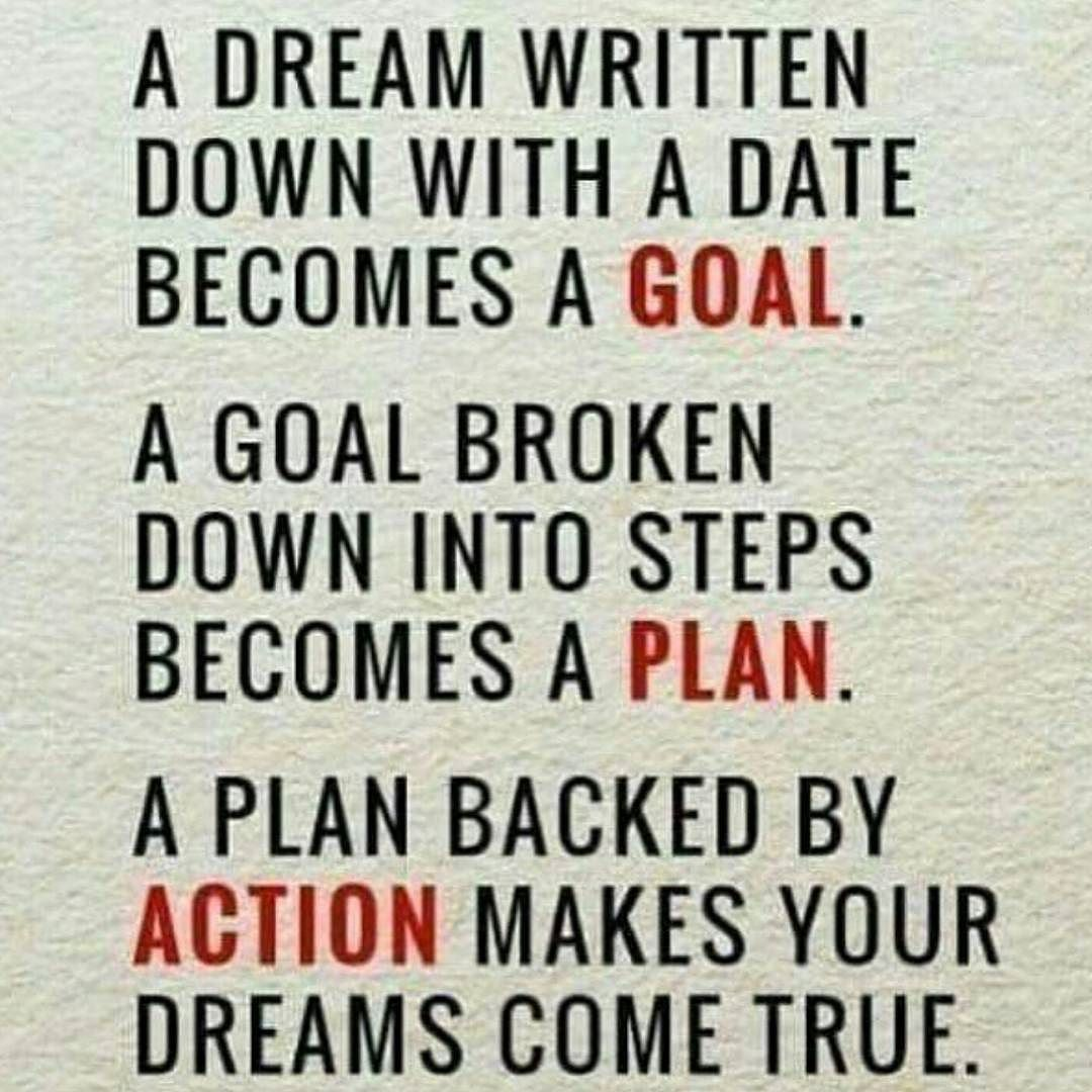 A dream without a plan to achieve it is just that a dream