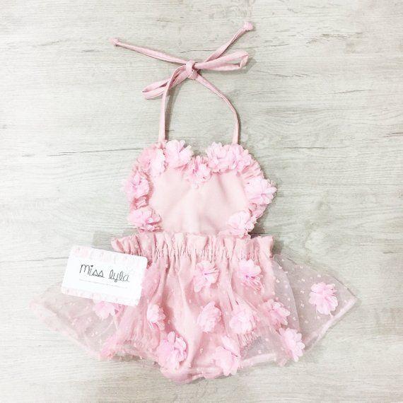 d985790f081 Baby girl pink romper