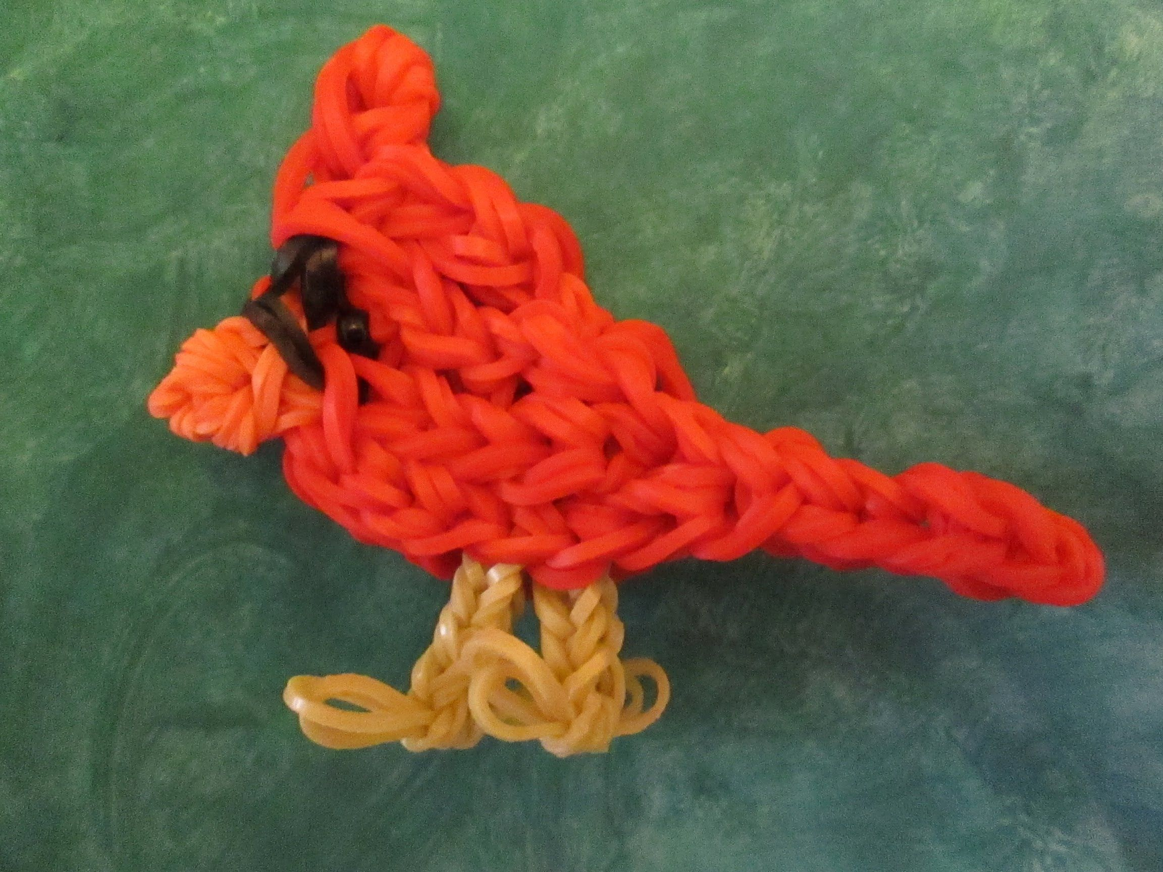 how to make a loom band bird charm