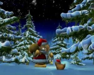 Animation Reveillon Noel Vidéo Animation Noël   Le Réveillon d'un mignon petit ourson