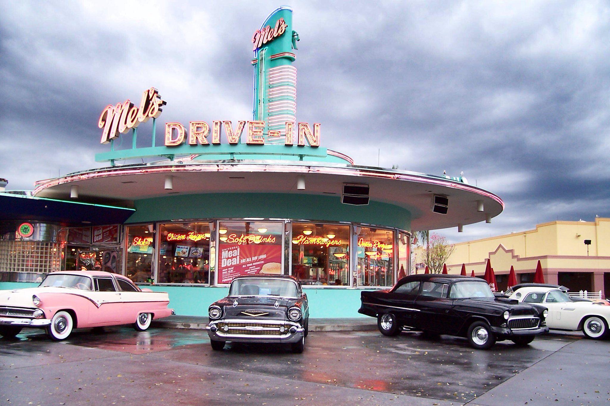 Florida universal studios mels diner in 2020