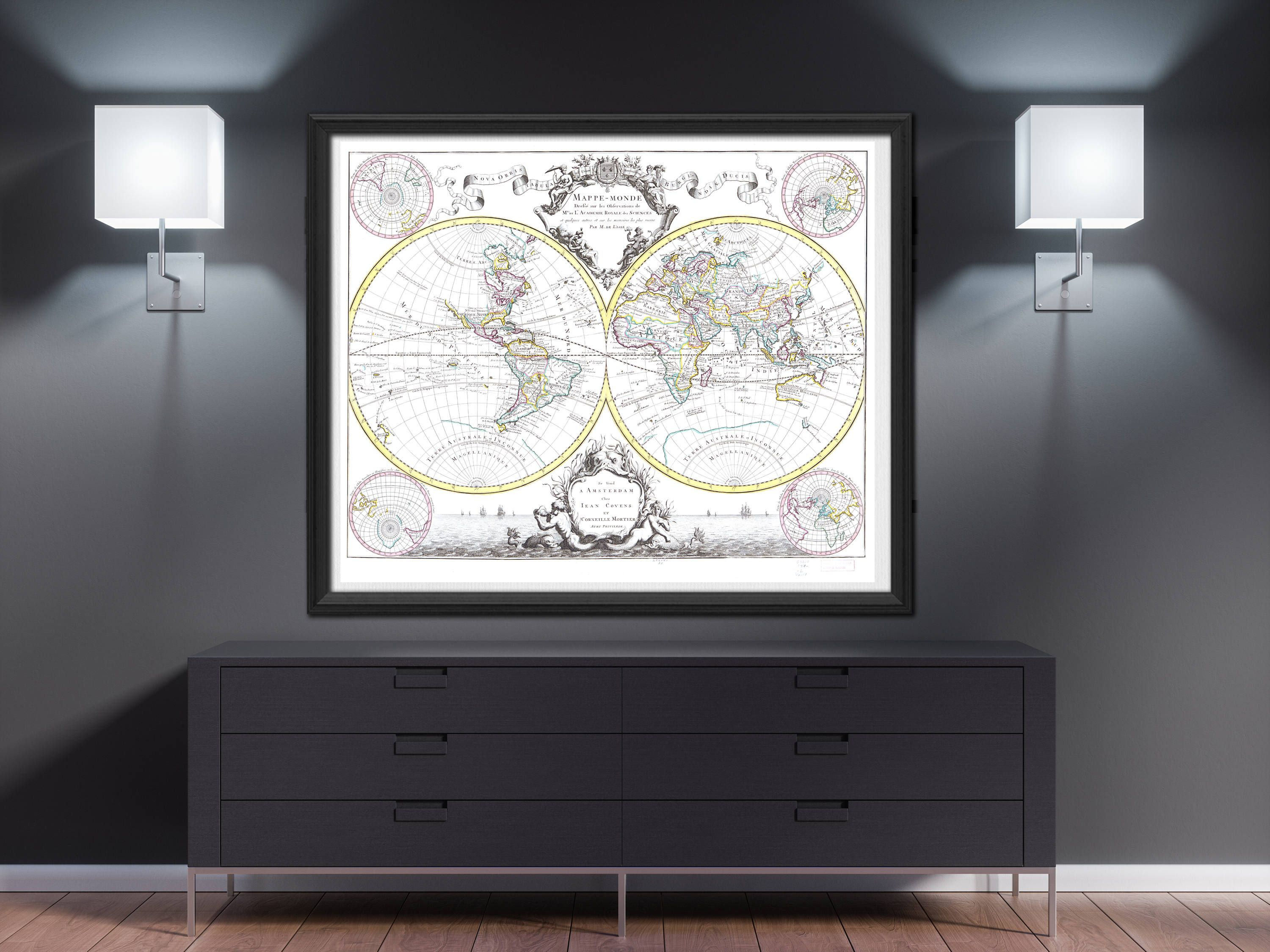World map wall art 1665 worldmap poster travel gift wanderlust gift excited to share the latest addition to my etsy shop world map wall art 1665 vintage world map art old map art living room decoration antique world gumiabroncs Gallery