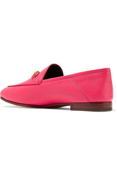 125a603f442 Gucci - Horsebit-detailed Leather Loafers - Fuchsia - IT