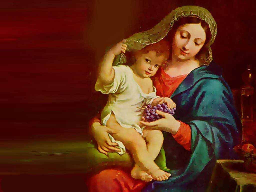 Recently The Seminary Coordinator For Our Area Shared With Us Teachers Two Experiences He Had Had First In Mary And Jesus Mother Mary Wallpaper Mother Mary