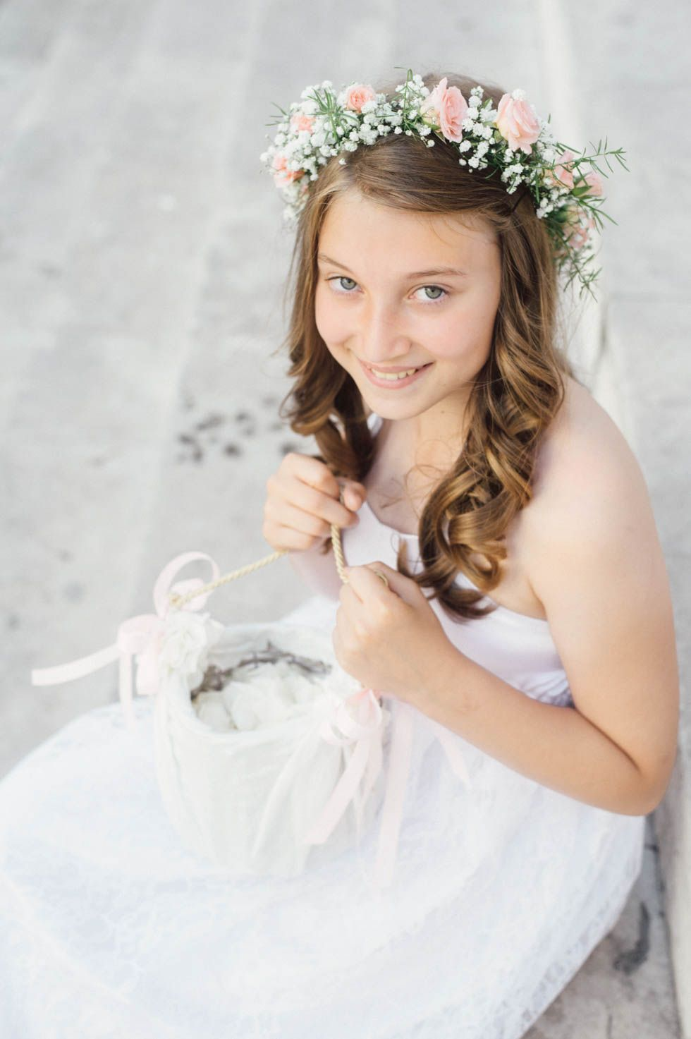 Blumenkind Haarkranz Rosa Haarkranz Blumenmadchen Kleid Haarkranz Hochzeit