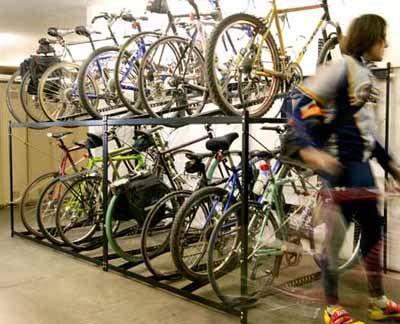Bike Racks 6 Bike Double Decker Bike Rack The Park Catalog