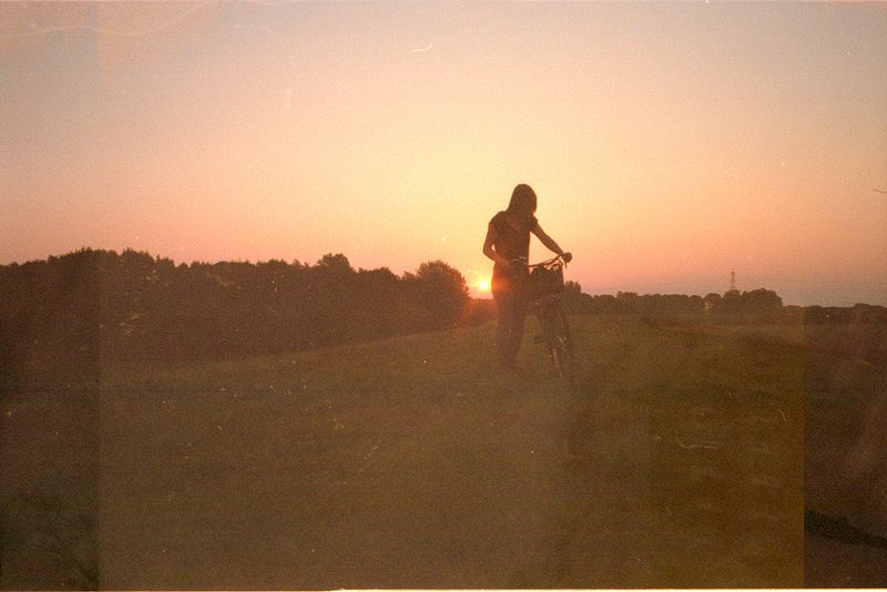 Le Love Blog Relationships Break Up Story Moving On Letting Go Photo Pic Image Just A Memory Girl Walking Her Bike At Sunset Untitled by dear caffeine, on Flickr