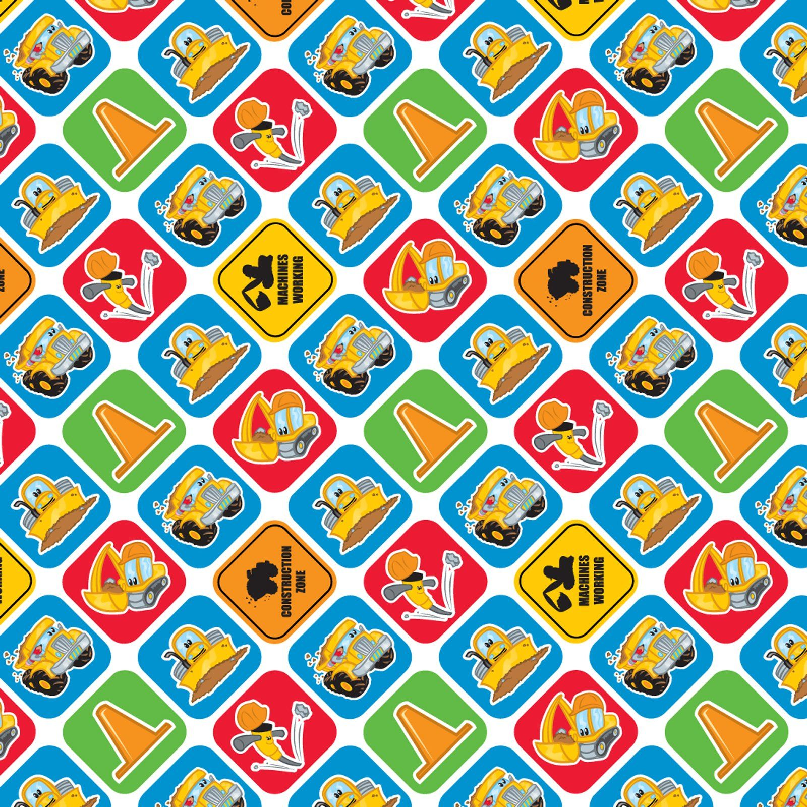 wrap up that special present with this construction themed wrap