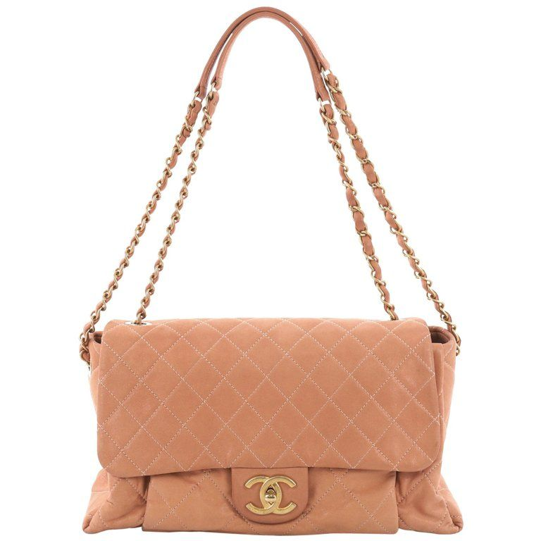 0cc0fc811c7bde Chanel Coco Pleats Flap Bag Quilted Iridescent Calfskin Maxi ...