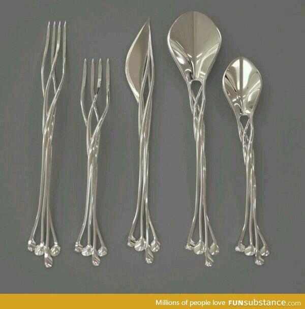 巻き付くような、絡み合うような。Elvish cutlery