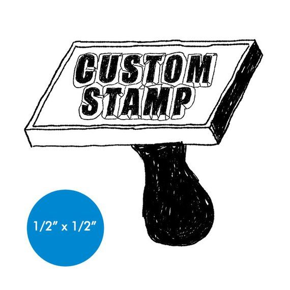 Custom Rubber Stamp 0 5 X 0 5 Logo Business Promotion