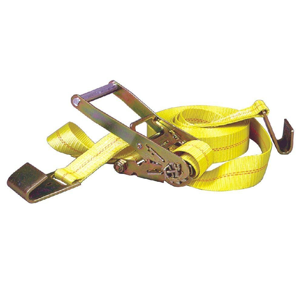 Keeper 30 ft x 2 in x 10000 lbs flat hook ratchet tie