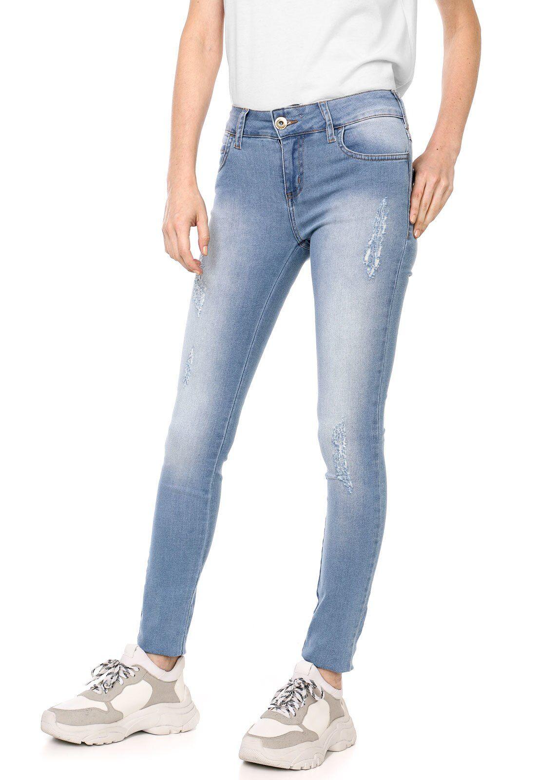 Calca Jeans Colcci Skinny Fatima Azul Em 2020 Calca Jeans Colcci