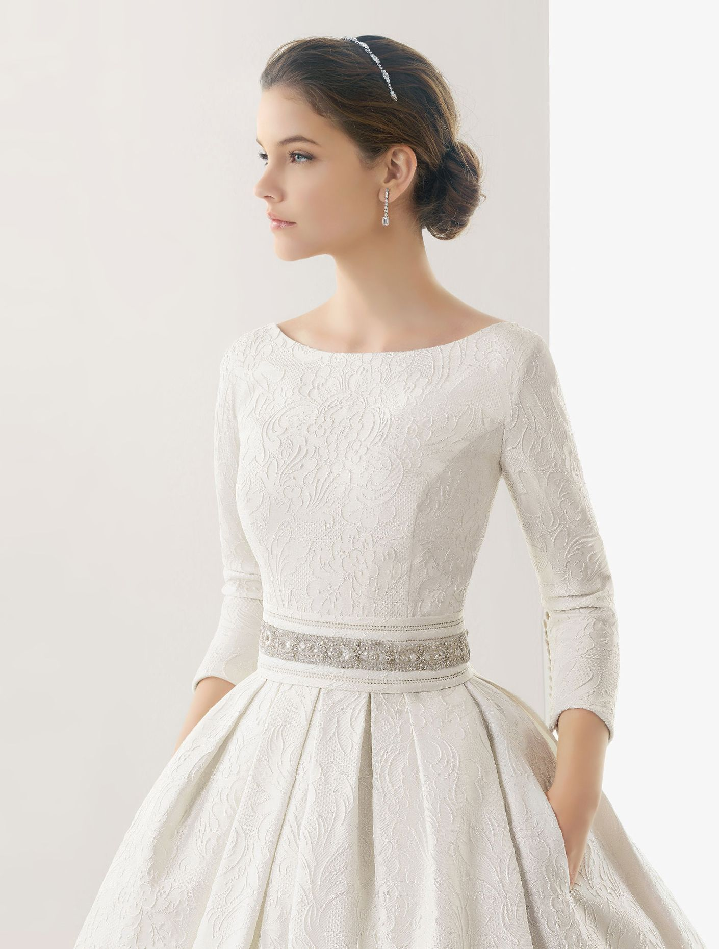 Wedding Dresses And Evening Gowns Wedding Dress Long Sleeve Court Train Wedding Dress Wedding Dress Necklines