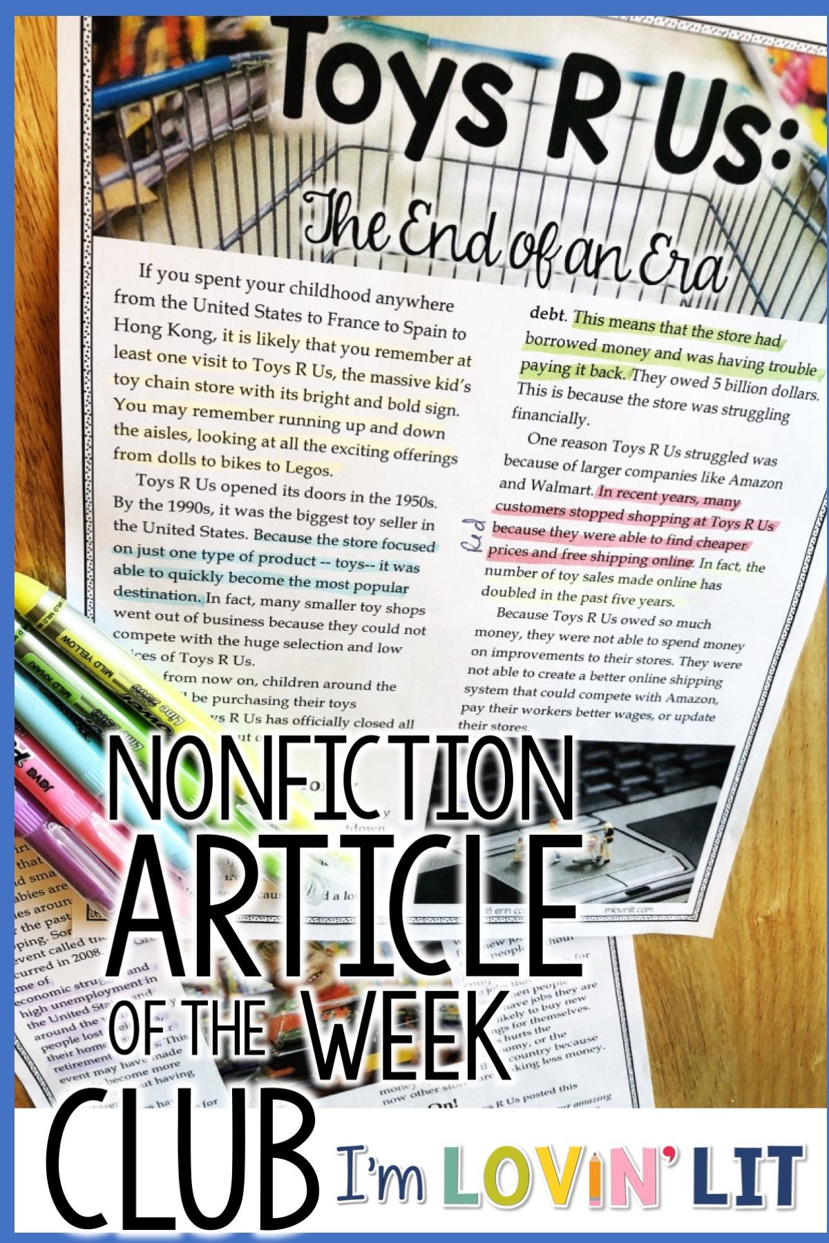Nonfiction Article Of The Week Clubs For Grades 5 6 7 8 Are