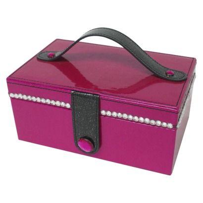 Xhilaration Sparkle Jewelry Box PinkBlack 6 H x 5 W x 85