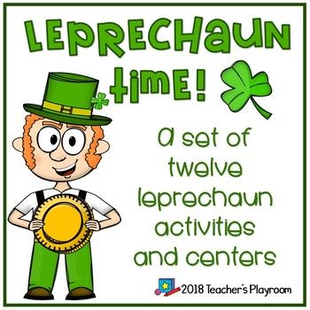 Leprechaun Time is a packet of twelve St. Patrick\'s Day activities ...