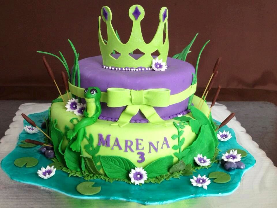 The Princess And The Frog Cake Mis Pasteles Pinterest Frog