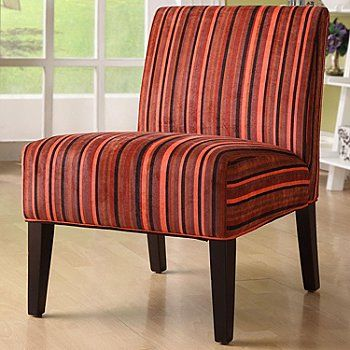 415 895 Homebasica Red Striped Lounge Chair With Images