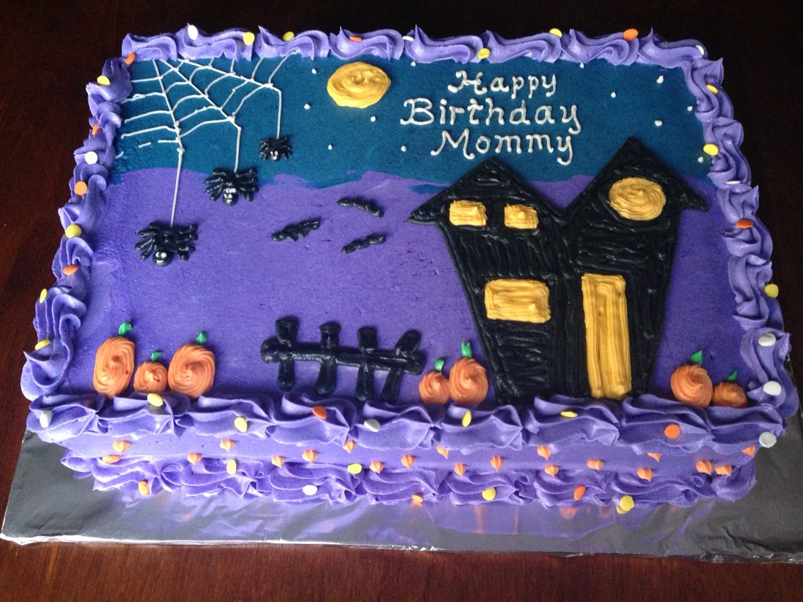 Halloween birthday buttercream cake