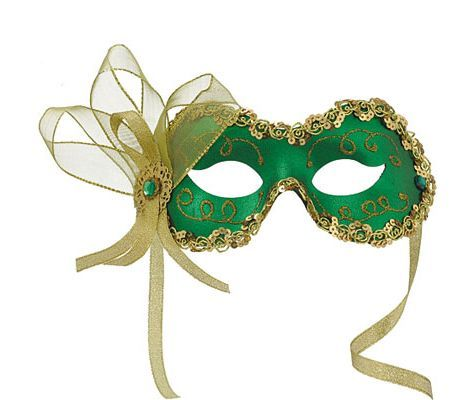 Green Angelina Masquerade Mask - Party City Party ideas - party city store costumes