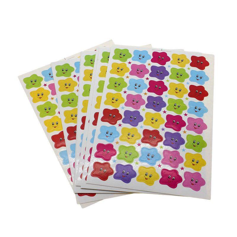 Kvadrokopter 400 개 어린이 어린이 별 웃는 얼굴 보상 스티커 딱 장려 어린이