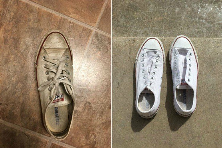 8f6a7610bca1c8 This Student s Sneaker-Cleaning Trick is Taking the Internet By ...