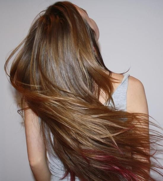 Best 25 Red Streaks Ideas On Pinterest Brown Hair Red