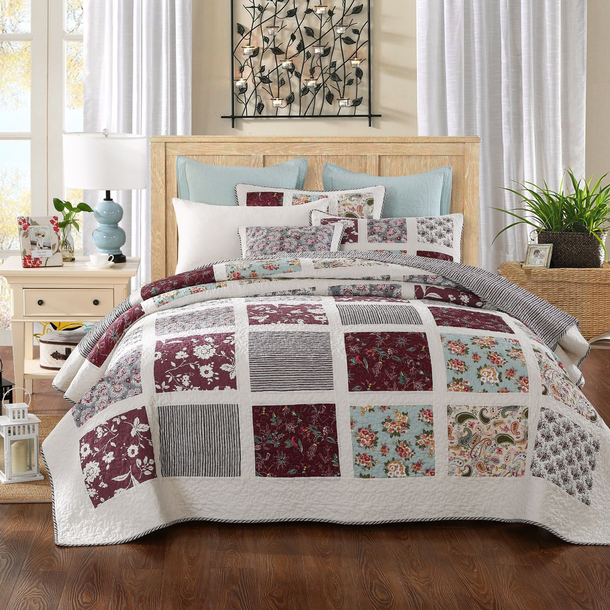 bedding home bed set quilt qlt bath coverlets quilts p cannon floral piece prod quilted bedspread print wid hei