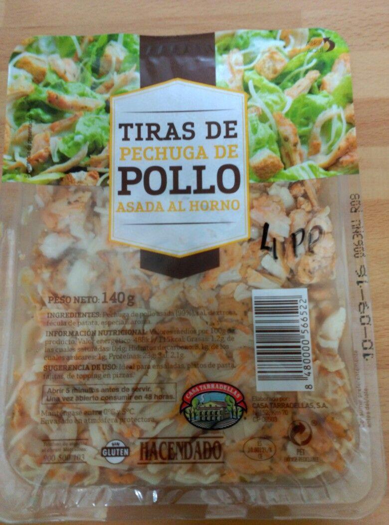 valor nutricional pechuga de pollo a la plancha