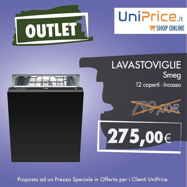 Prezzi #outlet !!! #lavastoviglie #smeg da incasso a 275 ...