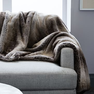 West Elm Throw Blanket Inspiration Faux Fur Ombre Throw Mocha Westelm Gifts Pinterest Fur