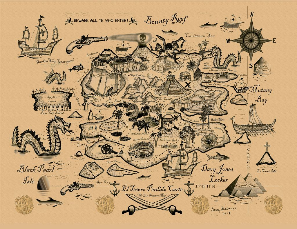 Thumbnail Sketch Treasure Map