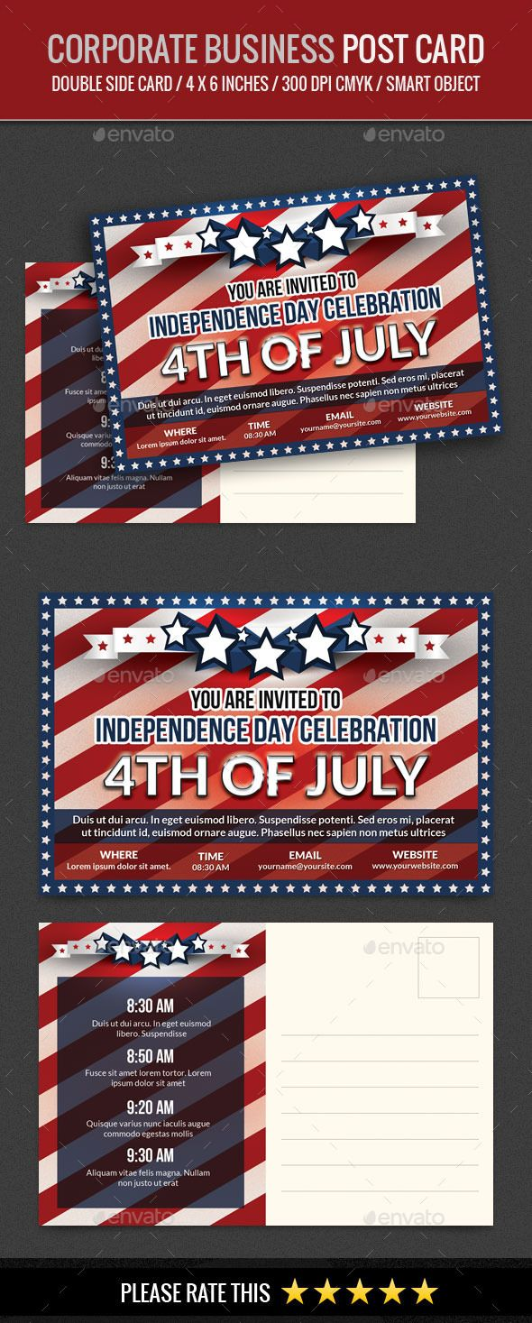 Usa Independence Day Th Of July Post Card  Independence Day