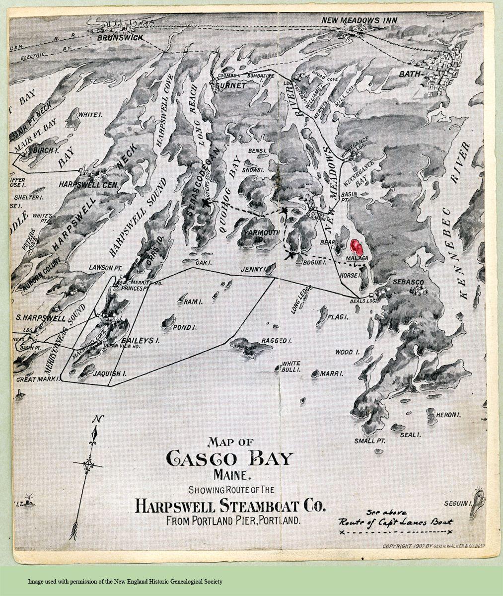 Map, Malaga Island, 1907. Ms. A. Lane Sbook c.1900-Pg26 ... on cliff island maine map, bailey island maine map, star island maine map, little tall island maine map, appledore island maine map, long island maine map, orrs island maine map,