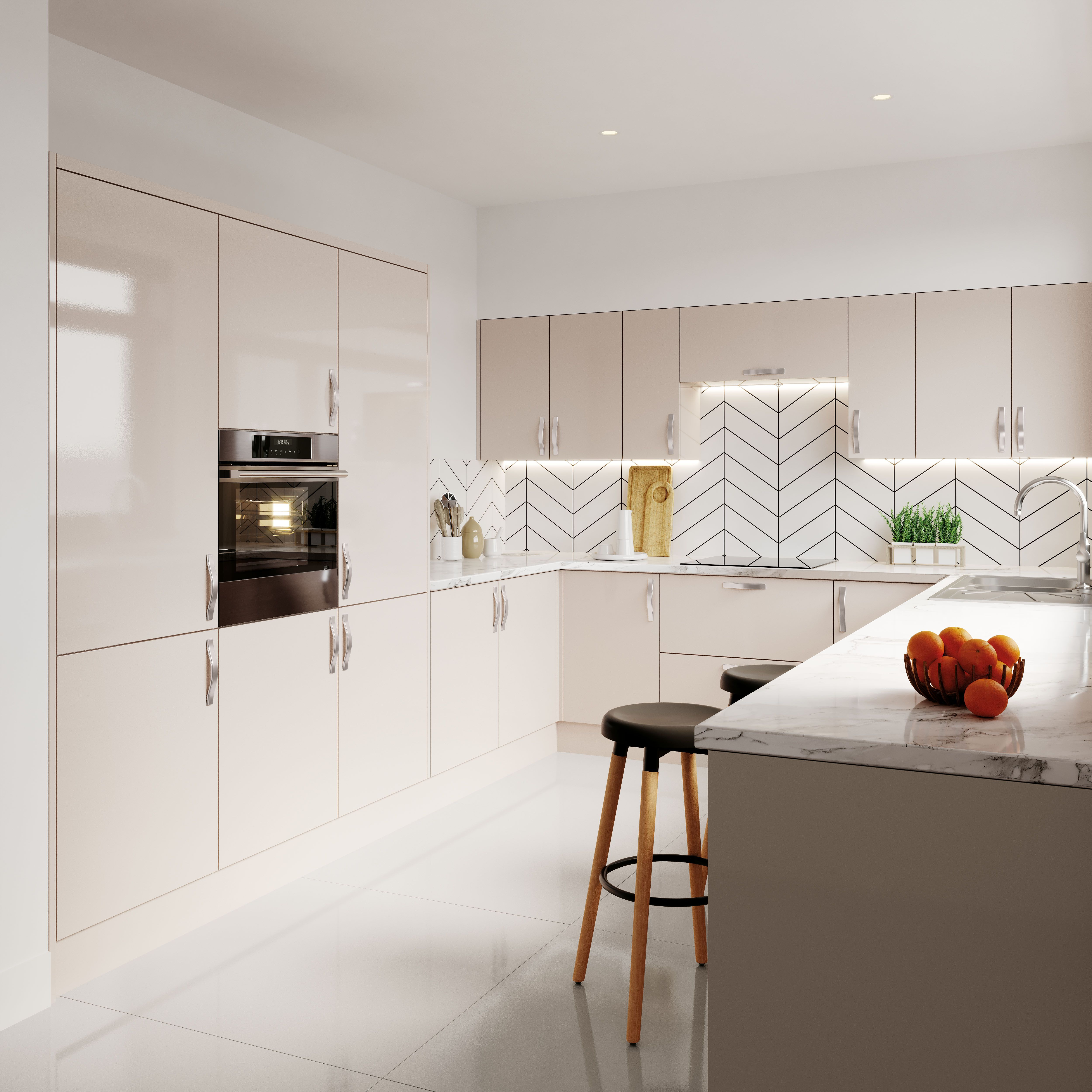 Salcombe Gloss Simple Kitchen Cabinets Kitchen Cabinet Door Styles Modern Kitchen Cabinet Design