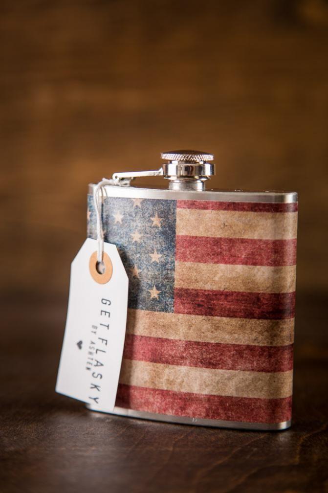 Merica Get Flasky Flasks on BourbonandBoots com   Country&Camoflage