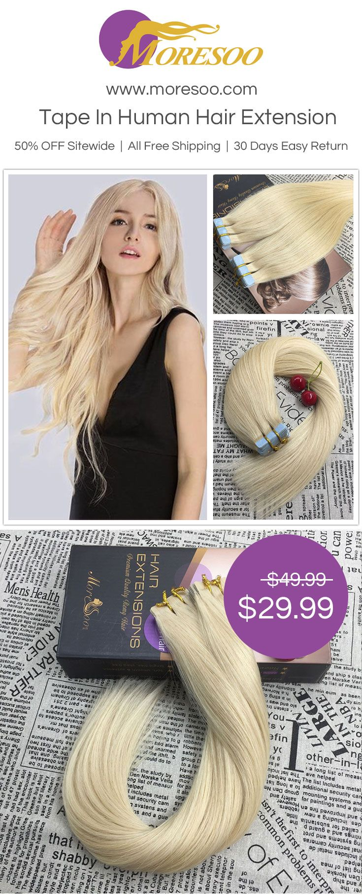 Moresoo Clip In Human Hair Extension At Moresoo High