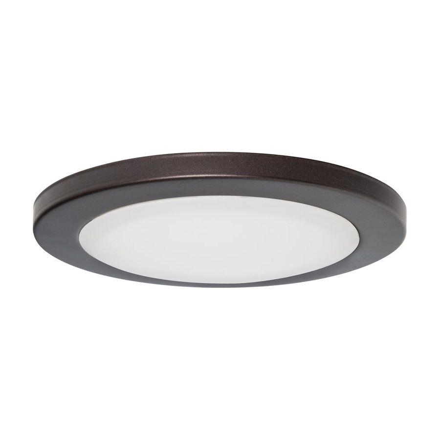 Amax Lighting M A 5 In W Bronze Led Flush Mount Light