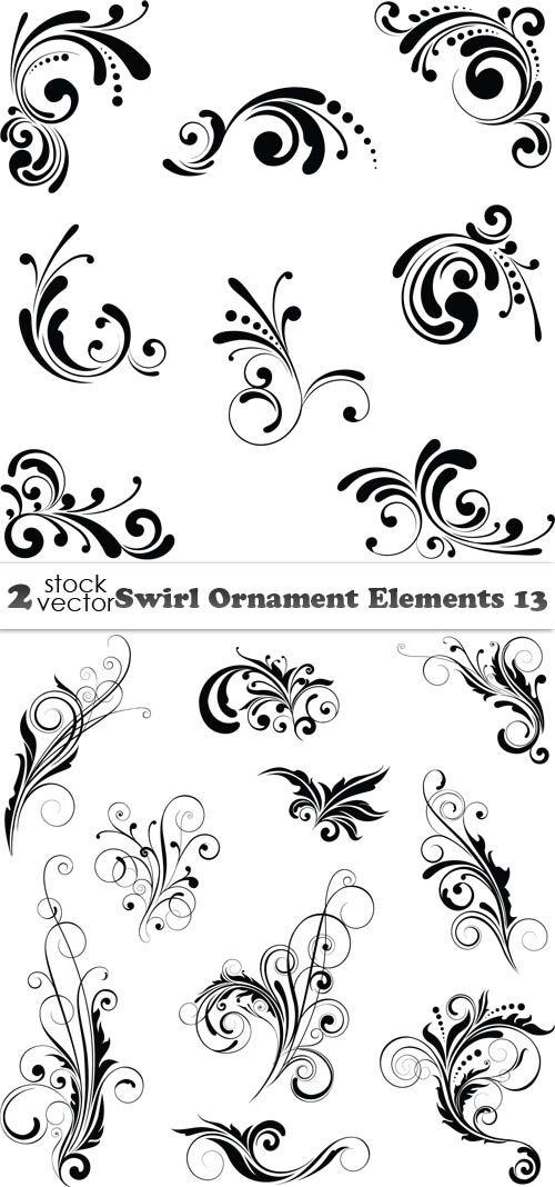 Vectors - Swirl Ornament Elements 13 2 AI | TIFF Preview | 16 MB ...