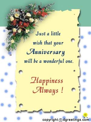 Greeting cards for wedding anniversary of friend