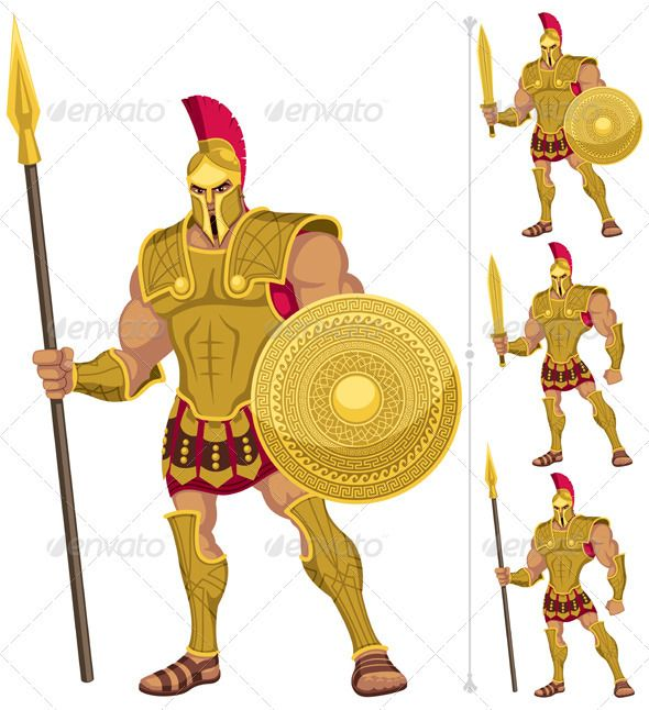 Greek Hero  #GraphicRiver         Greek hero isolated on white. On the right are 3 additional versions of him. No transparency and gradients used. AI, CDR , EPS, JPEG and PSD files.     Created: 5October12 GraphicsFilesIncluded: PhotoshopPSD #JPGImage #VectorEPS #AIIllustrator Layered: Yes MinimumAdobeCSVersion: CS Tags: achilles #ancient #armor #background #cartoon #character
