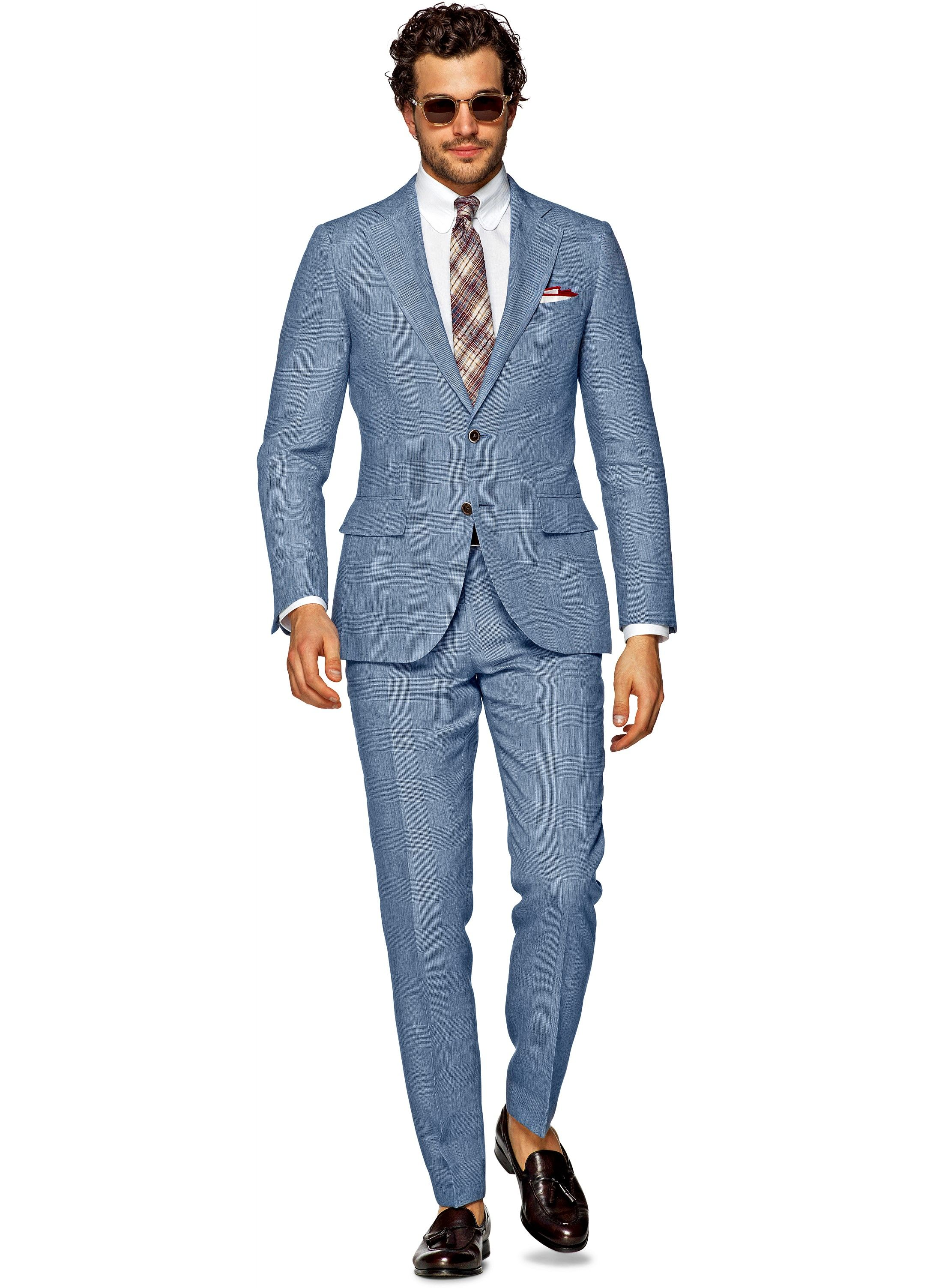 Suit Light Blue Check Lazio P4235i | Suitsupply Online Store ...
